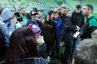 Jakub Wawrzyniak oprowadzał kibiców po stadionie Lechii
