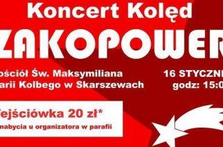 Grupa Zakopower wystąpi w Skarszewach
