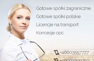 Gotowa Spółka Czeska, Węgry, w Bułgarii / Słowacja, Hiszpanii, Niemcy, Rumunia, Łotwa, Holandia, Belgia 603557777