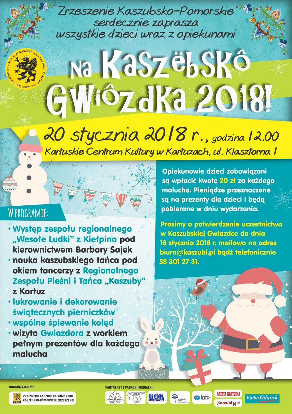 Kaszëbskô Gwiôzdka 2018 w Kartuskim Centrum Kultury