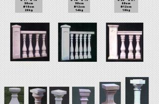TRALKI BETONOWE – Figury ogrodowe, Fontanny, Wazony