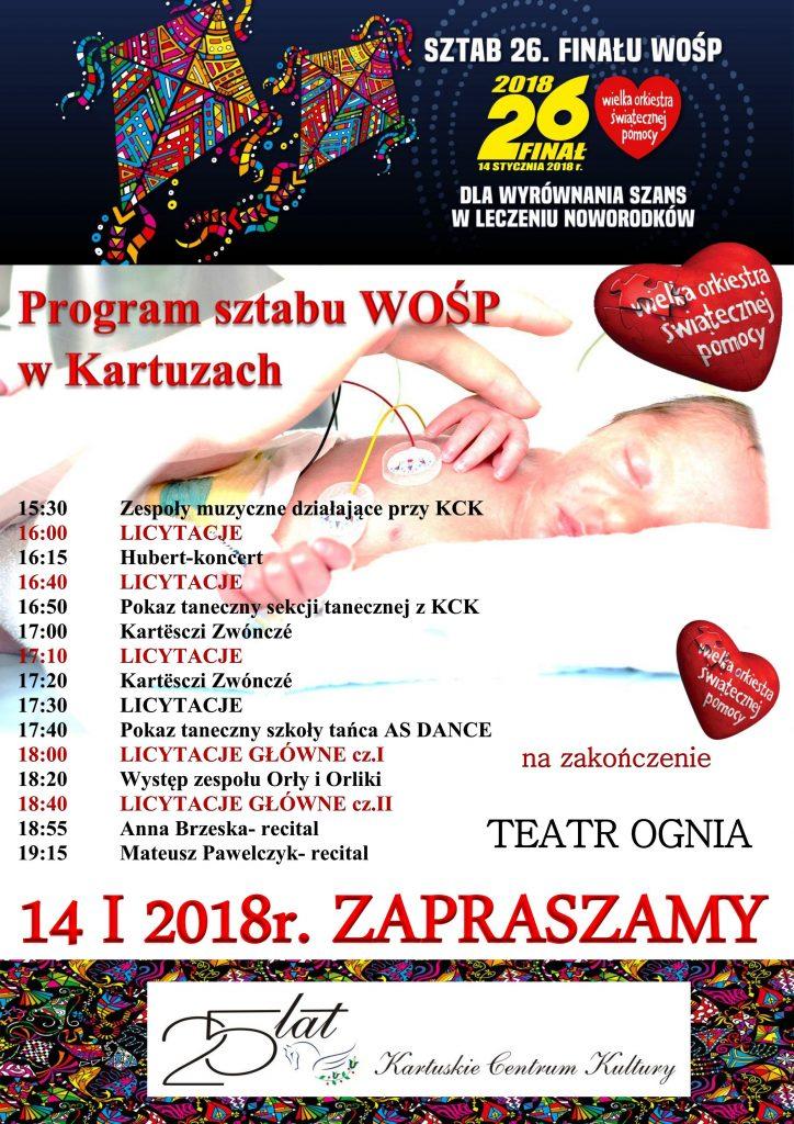26. Finał Wielkiej Orkiestry Świątecznej Pomocy w Kartuzach