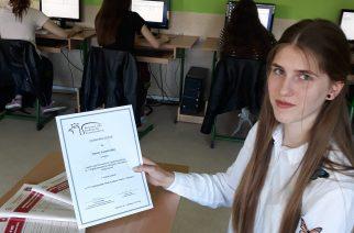 Joanna Łaszewska finalistką VIII Ogólnopolskiego Konkursu Wiedzy o Podatkach