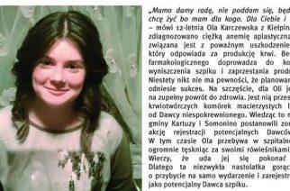 Dzień Dawcy Szpiku dla Oli z Kiełpina