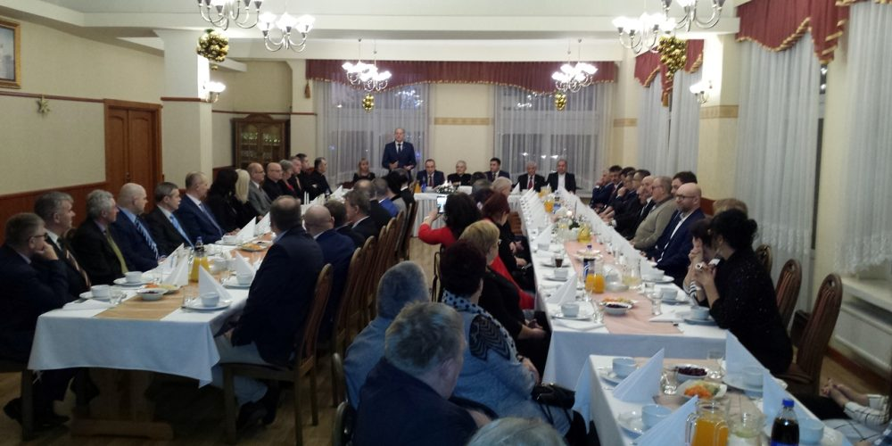 wigilia samorządowców w Żukowie