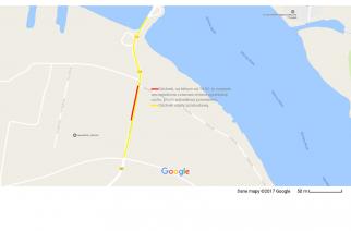 Wahadło w rejonie mostu w Sobieszewie od 14 lutego