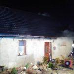 Pożar w Glinczu: ogień strawił połowę poddasza