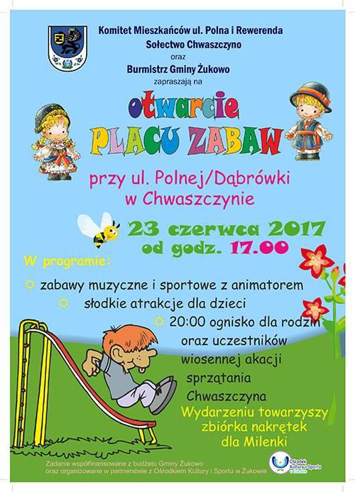 Otwarcie placu zabaw w Chwaszczynie