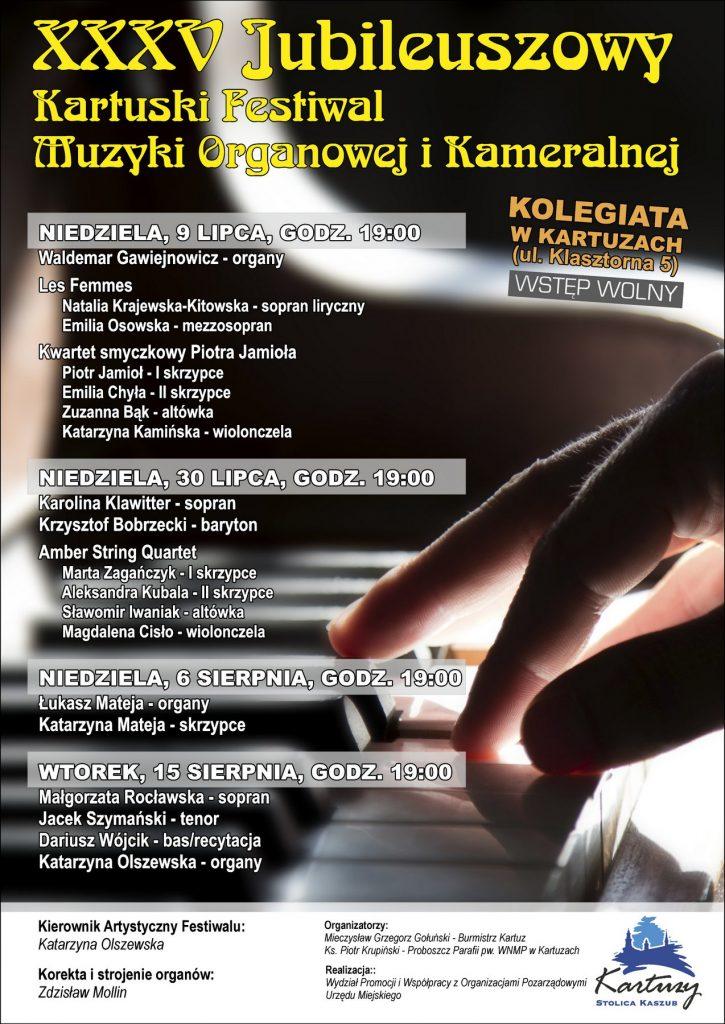 kocerty organowe w Kartuzach