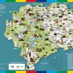Mapa atrakcji turystycznych powiatu kościerskiego