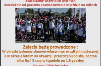 """Nabór do sekcji wrotkarskiej Stowarzyszenia """"Gdańkie Lwy"""" (mat. organizatora)"""