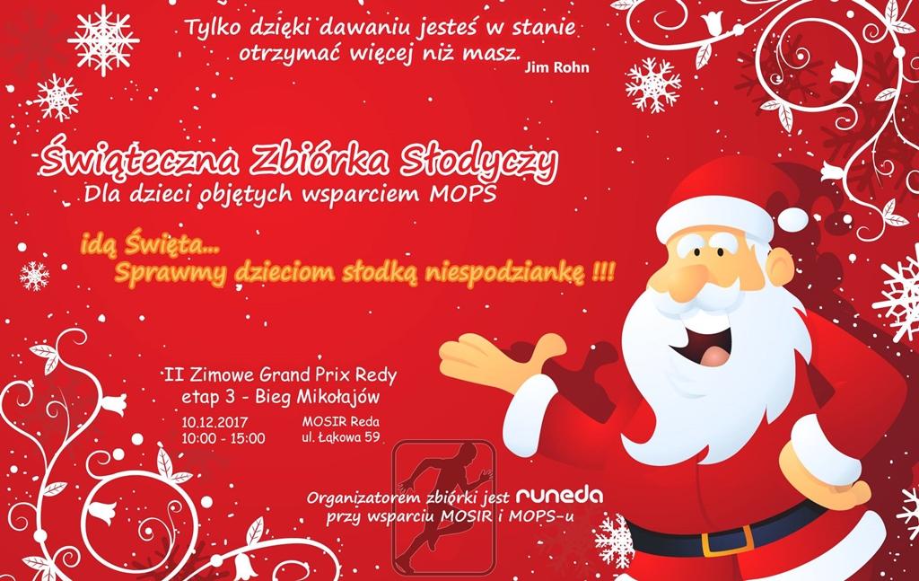 Zimowe Grand Prix Redy, czyli wielka zbiórka słodyczy dla dzieci na Mikołajki!