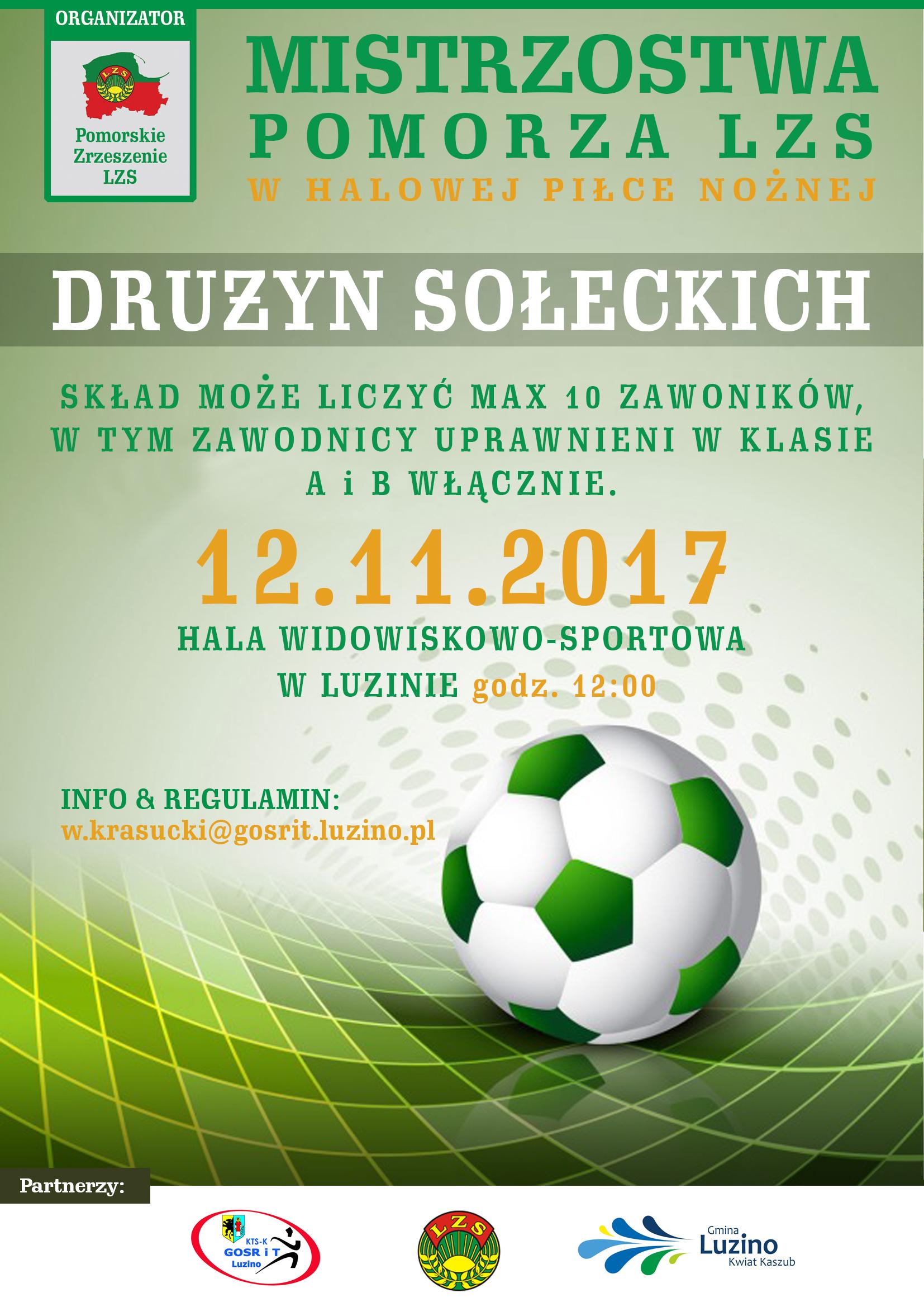 II Halowe Mistrzostwa Pomorza ZSL drużyn sołeckich w piłce nożnej halowej w Luzinie