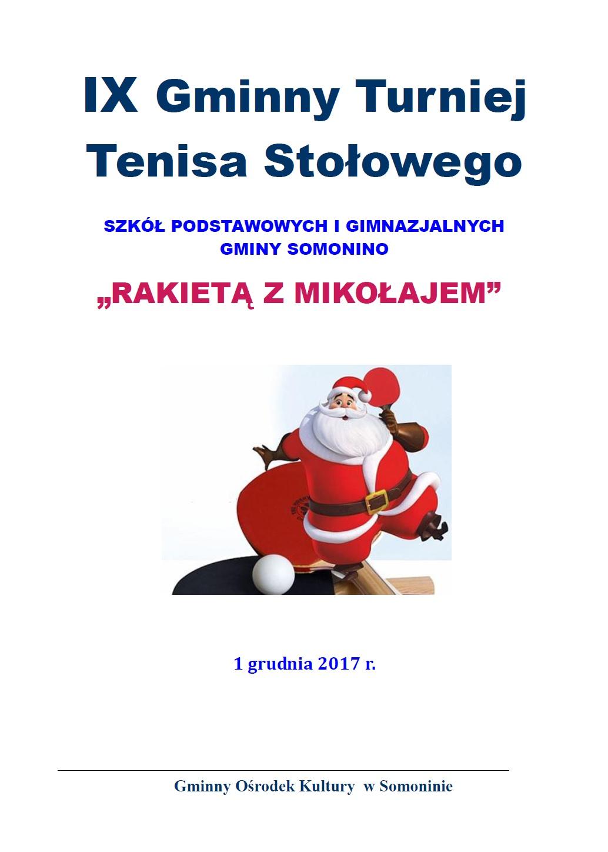Mikołajkowy Turniej Tenisa Stołowego w Goręczynie 1 grudnia
