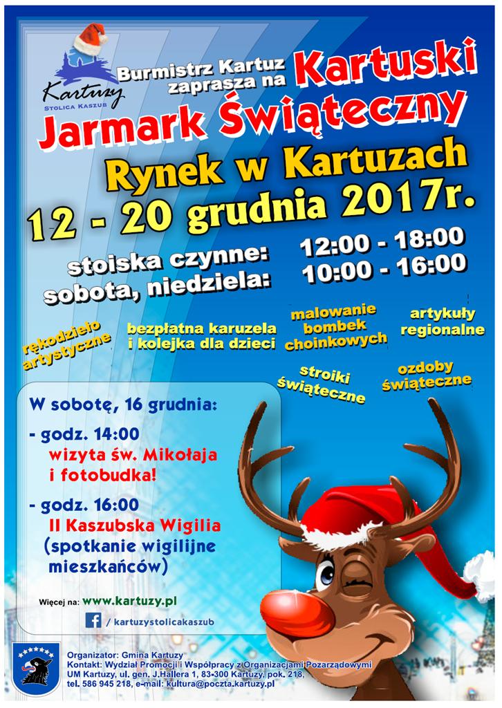 Kartuski Jarmark Świąteczny od 12 do 20 grudnia