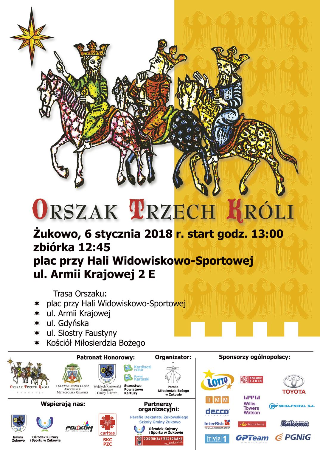 Orszak Trzech Króli w Żukowie: zbiórka przy hali o 12.45