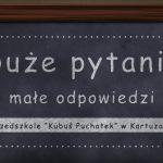 """Święto zakochanych według przedszkolaków – """"Duże pytania, małe odpowiedzi"""""""