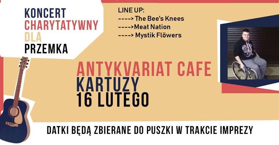 Koncert dla Przemka w Antykvariat Cafe!
