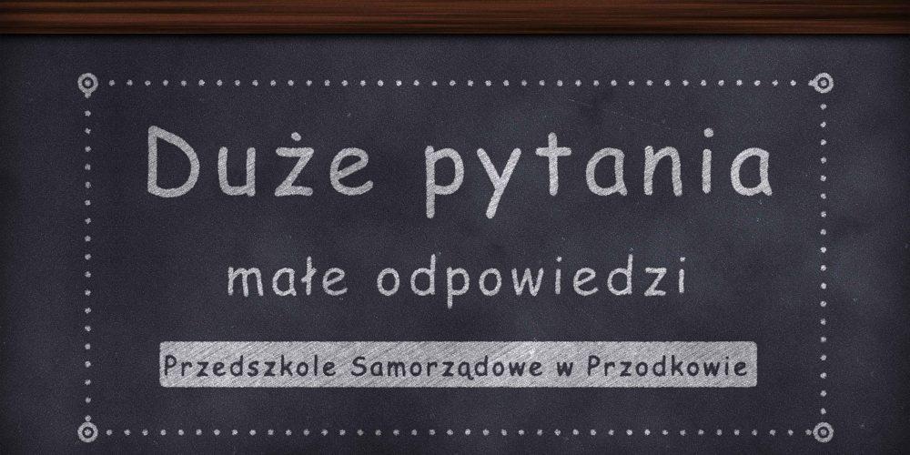 """Ferie zimowe według przedszkolaków z Przodkowa – """"Duże pytania, małe odpowiedzi"""""""