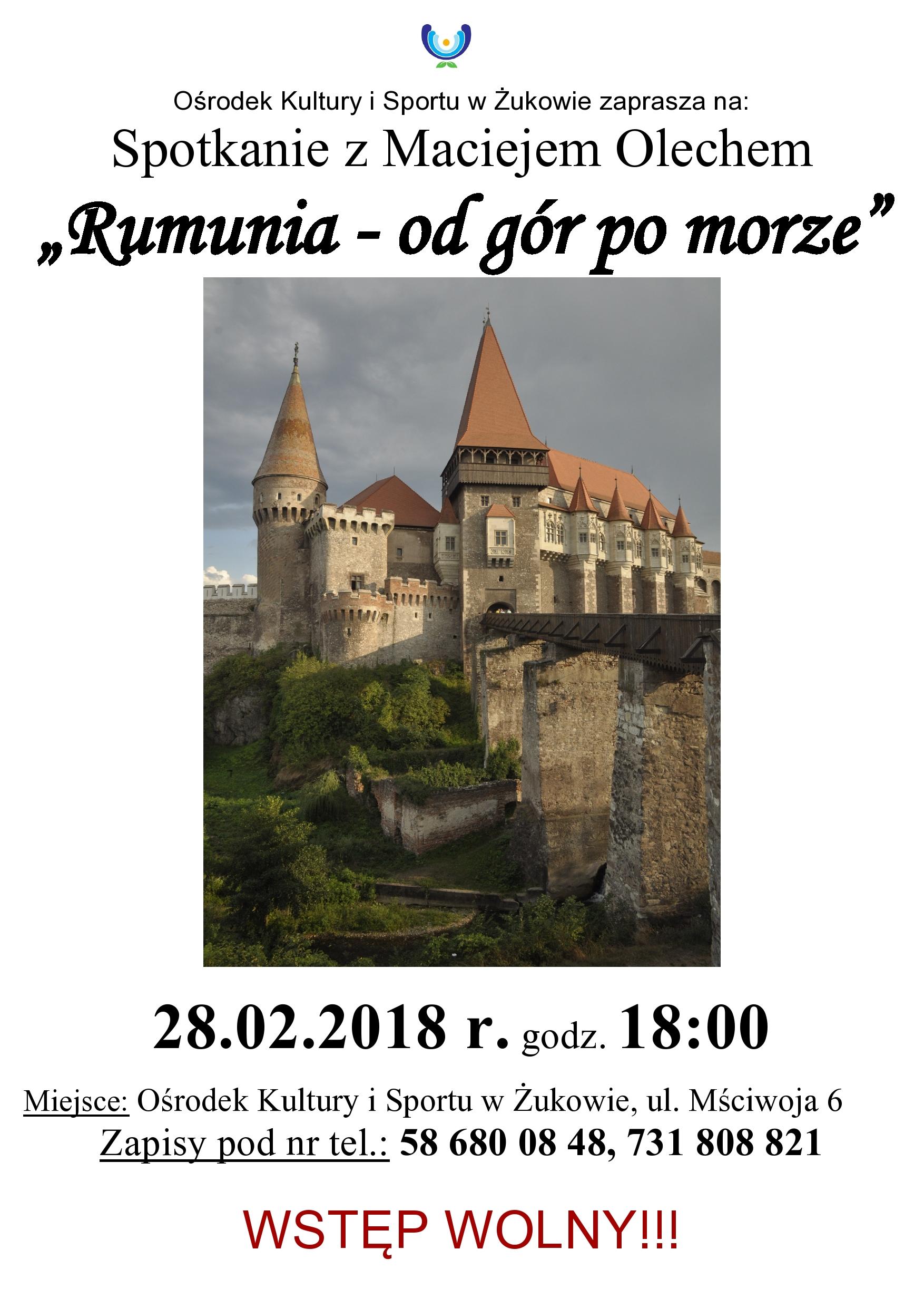 """Wykład """"Rumunia - od gór po morze"""""""