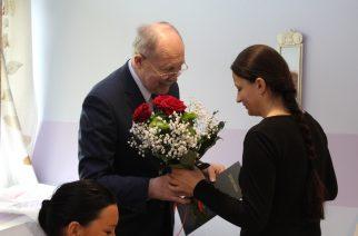 Wójt Jerzy Grzegorzewski pogratulował Irenie Brzeskiej