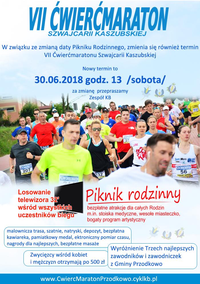Kaszuby Biegają - Ćwierćmaraton Szwajcarii Kaszubskiej w Przodkowie