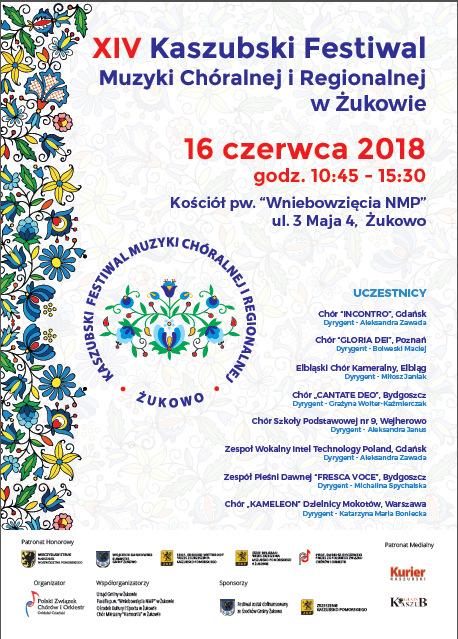 XIV Kaszubski Festiwal Muzyki Chóralnej i Regionalnej w Żukowie