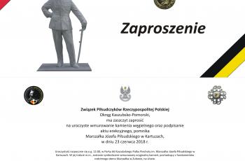 Wmurowanie kamienia węgielnego – Pomnik Józef Piłsudskiego w Kartuzach