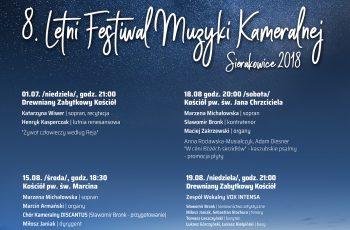 8. Letni Festiwal Muzyki Kameralnej – Sierakowice 2018