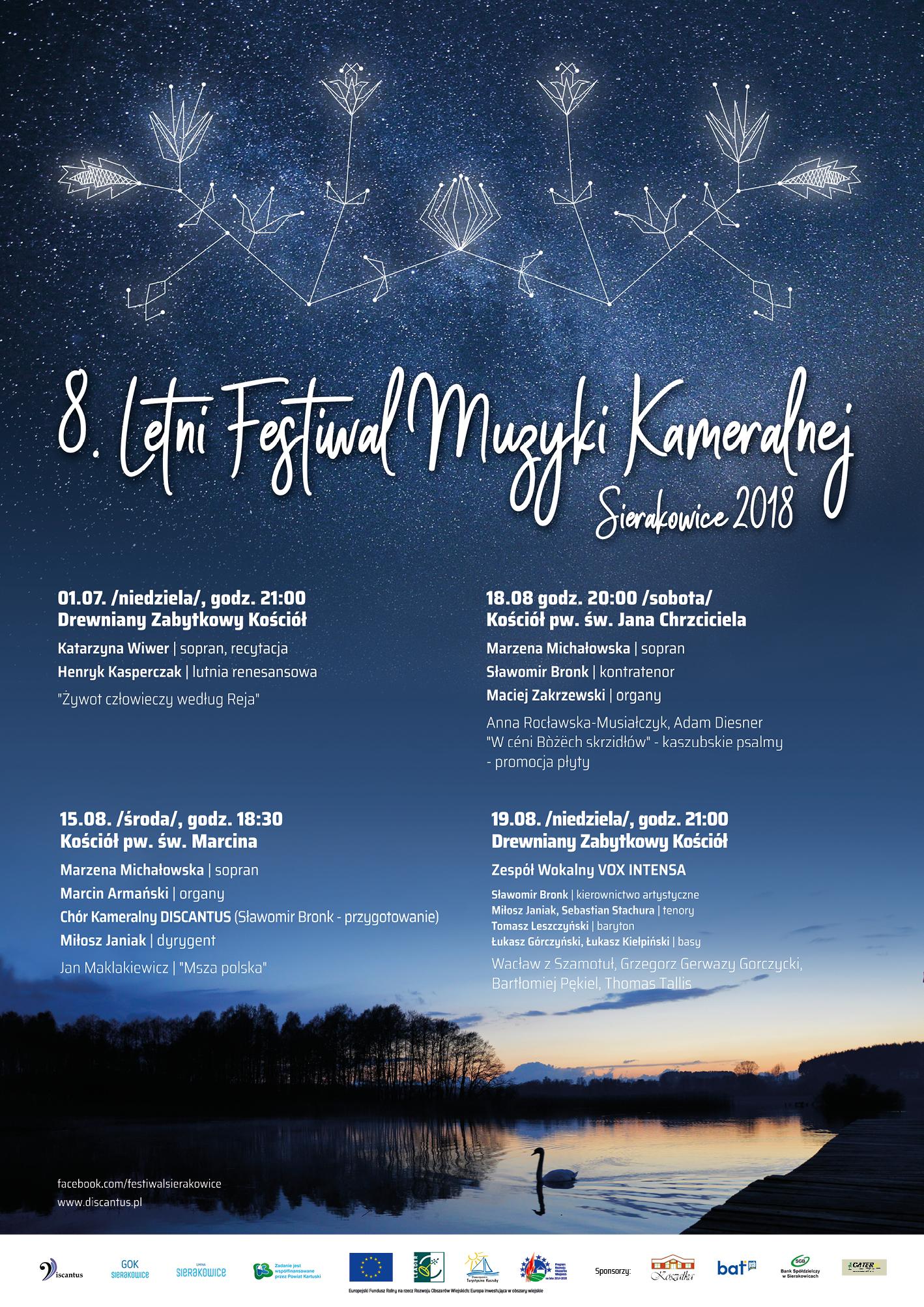 8. Letni Festiwal Muzyki Kameralnej - Sierakowice 2018