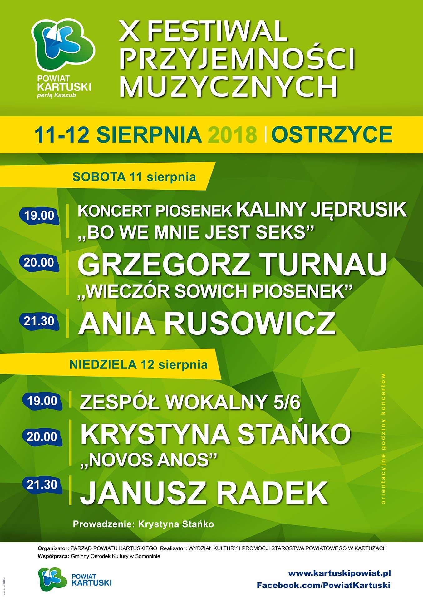 X Festiwal Przyjemności Muzycznych - Ostrzyce
