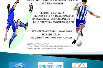 """Mistrzostwa """"Orlika"""" w Sierakowicach"""