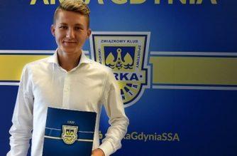 Mateusz Młyński tuż po debiucie w Ekstraklasie podpisał kontrakt z Arką Gdynia fot. Arka Gdynia