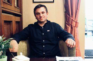 Michał Melibruda, w nadchodzących wyborach samorządowych, kandydować będzie na Wójta Gminy Chmielno fot. P.CH. / zKaszub.info