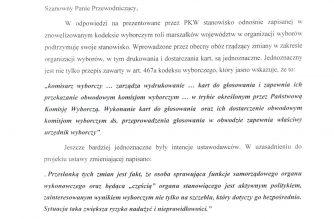 Mieczysław Struk wskazuje nierzetelne informacje w sprawie nadchodzących wyborów