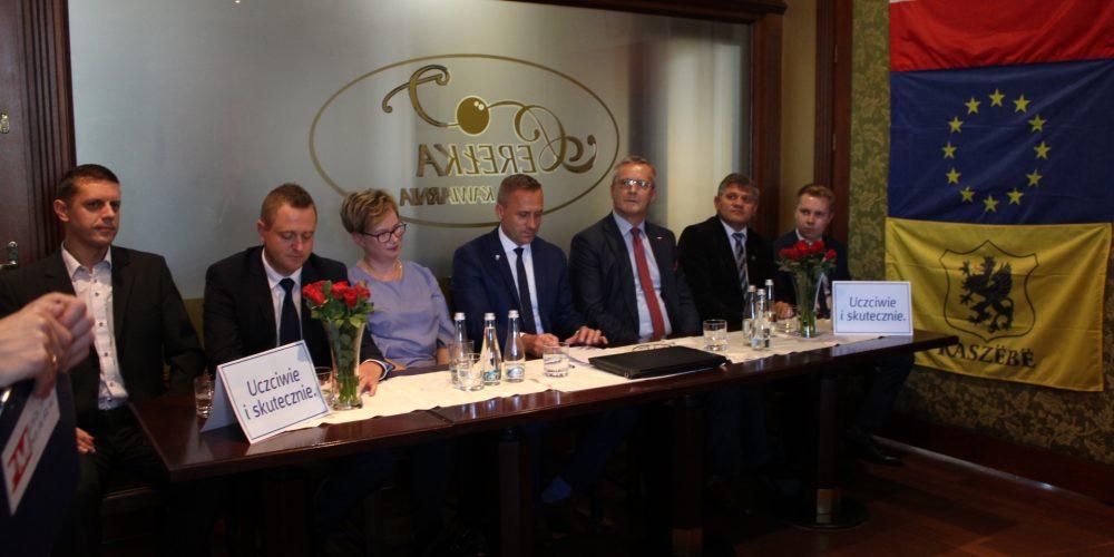 Za nami przedwyborcza konferencja prasowa Tomasza Belgraua, kandydata na Burmistrza Gminy Kartuzy fot. P.CH. / zKaszub.info