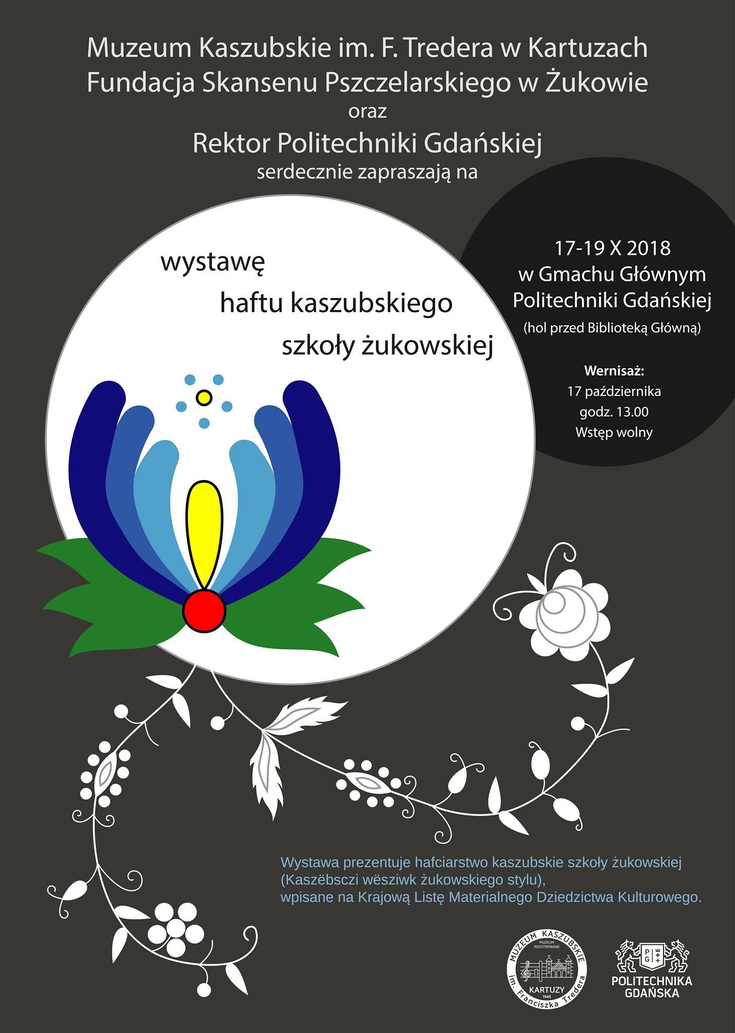 Wystawa Haftu Kaszubskiego w Politechnice Gdańskiej