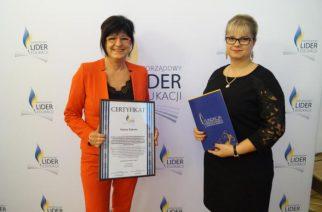 """Certyfikat """"Samorządowy Lider Edukacji"""" dla gminy Żukowo"""