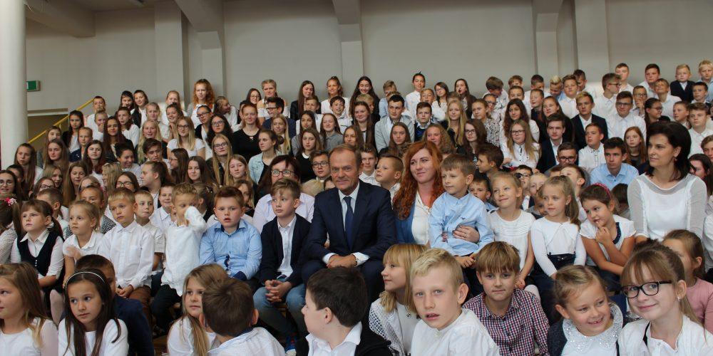 Donald Tusk w Chmielnie 2018 fot. SP w Chmielnie