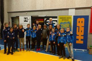 Igor Dąbrowski i Nikodem Sawicki z medalami na  Bjorne Cup 2018