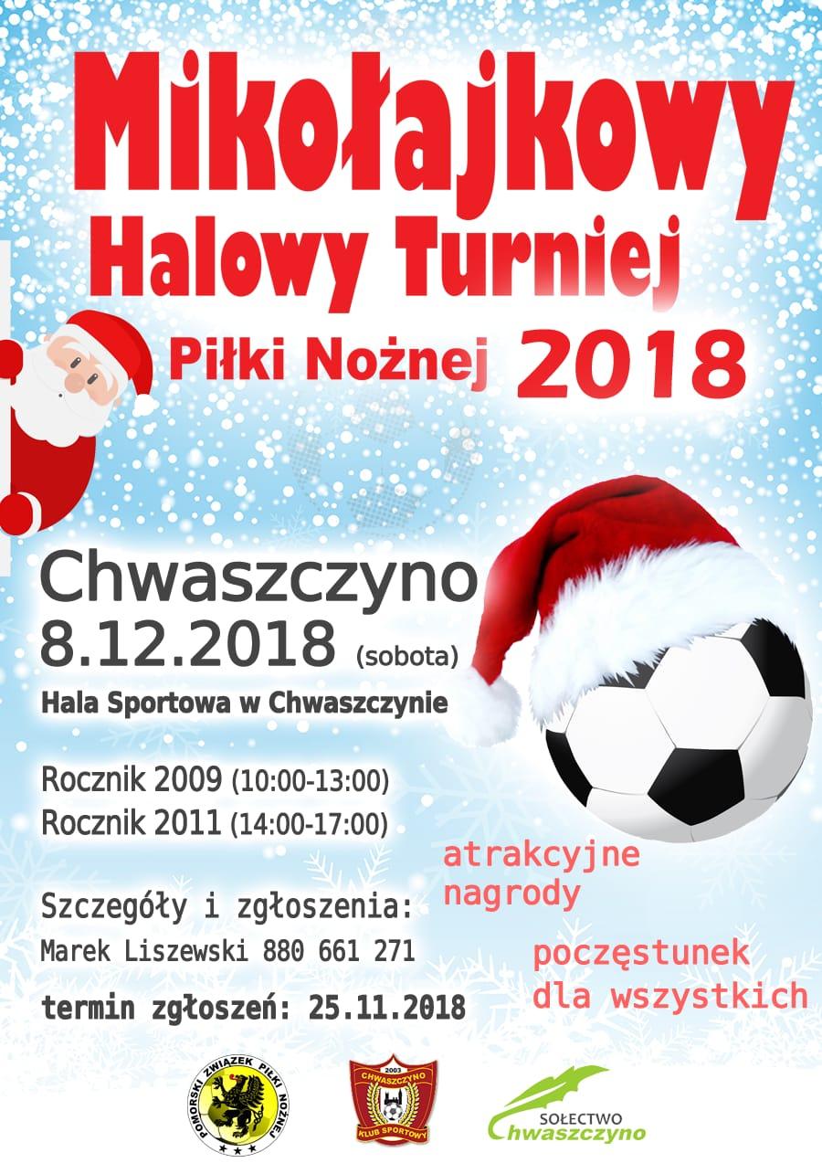 Mikołajkowy Halowy Turniej Piłki Nożnej w Chwaszczynie