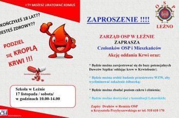 Akcja oddawania krwi w Leźnie
