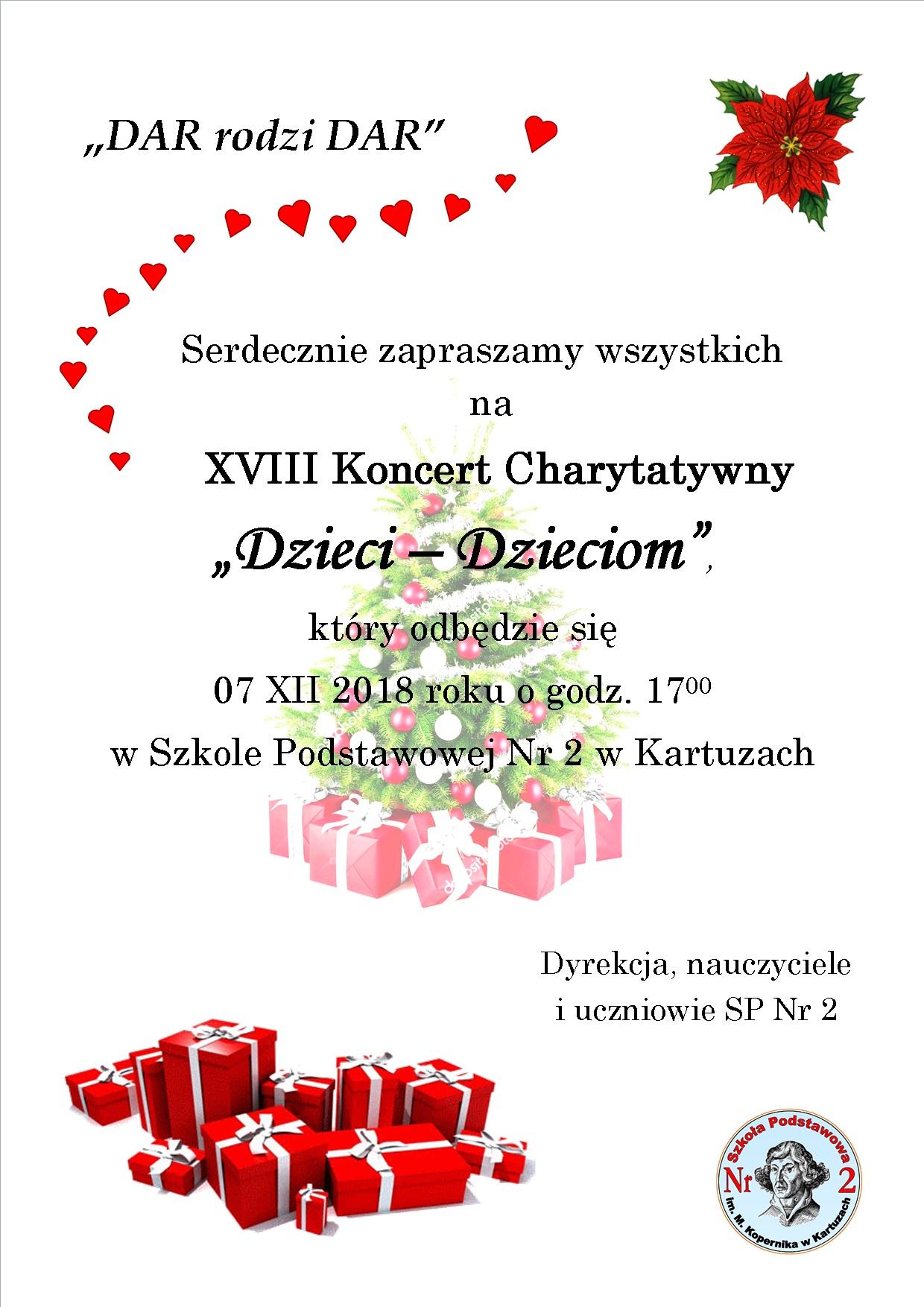 """XVIII Koncert Charytatywny """"Dzieci Dzieciom"""""""