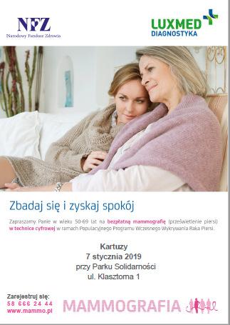Badania mammograficzne w Kartuzach
