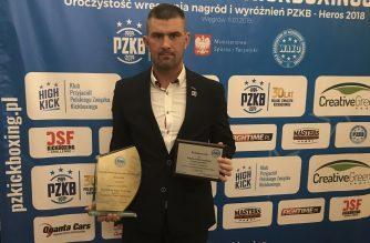 Patryk Zaborowski z wyróżnionieniem na Balu Mistrzów Kickboxingu