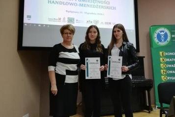 Joanna Łaszewska i Ewelina Damaszk finalistkami IV Olimpiady Wiedzy I Umiejętności Handlowo-Menedżerskich
