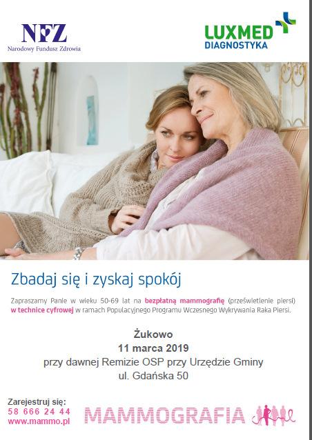 Badania mammograficzne w Żukowie