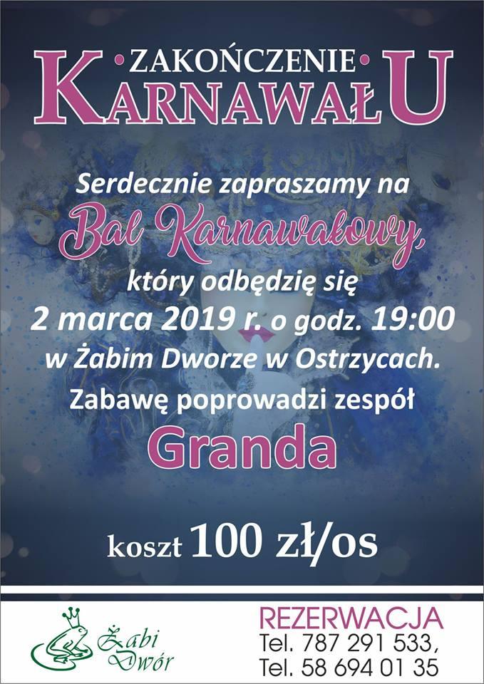 Bal Karnawałowy w Żabim Dworze!