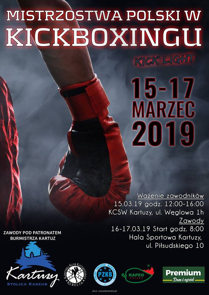 Mistrzostwa Polski w Kickboxingu Kick-Light 2019