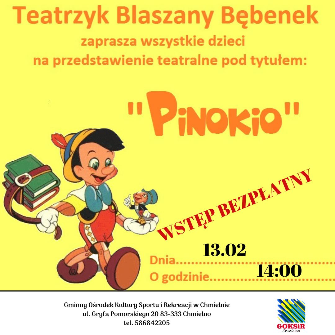 """Teatrzyk dla dzieci. """"Pinokio"""" w Chmielnie"""
